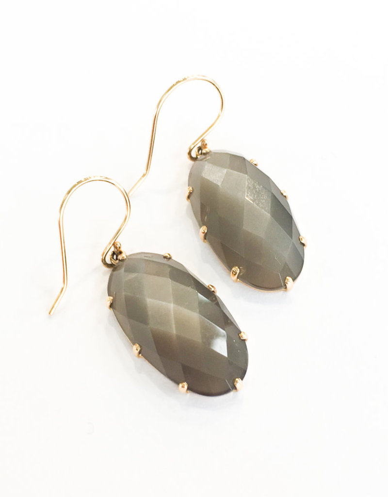JAMIE JOSEPH Grey Moonstone Earrings