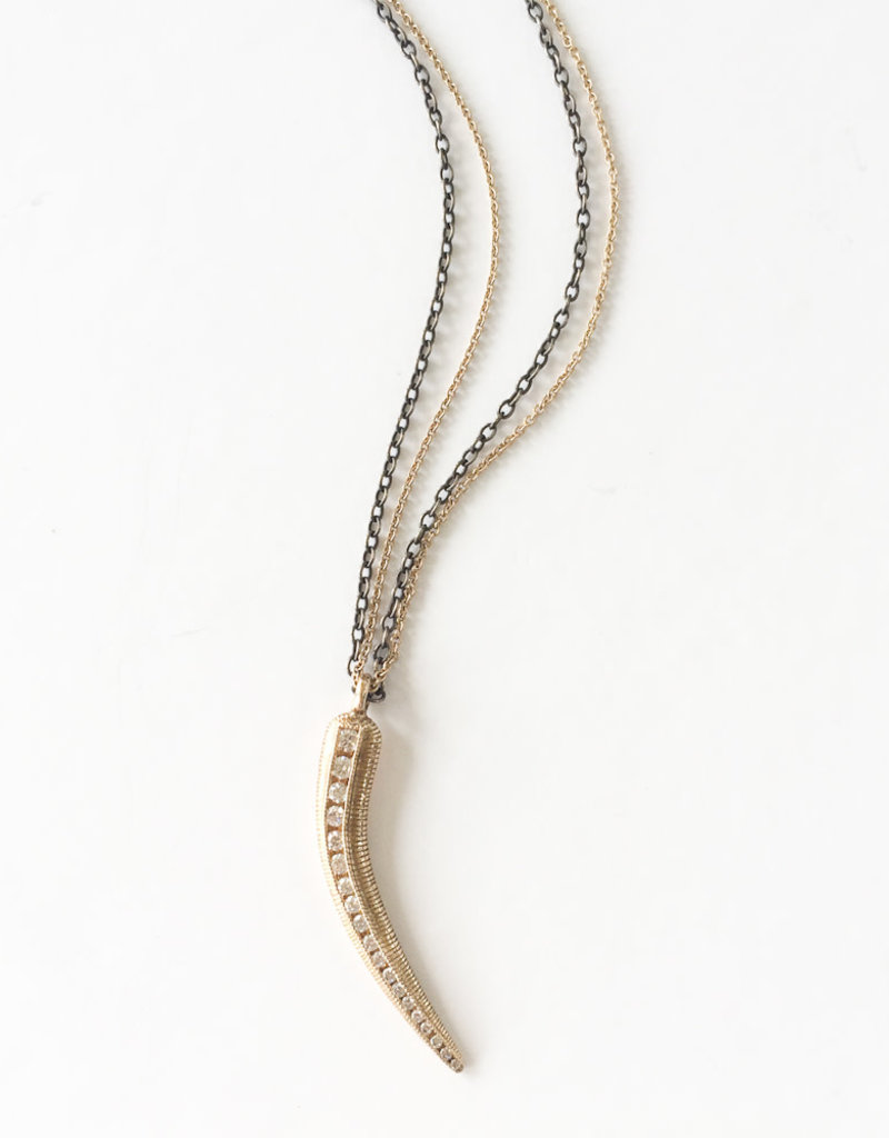 JAMIE JOSEPH Diamond Claw Necklace