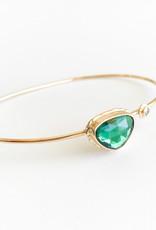 JAMIE JOSEPH Green Tourmaline with Diamond Bracelet