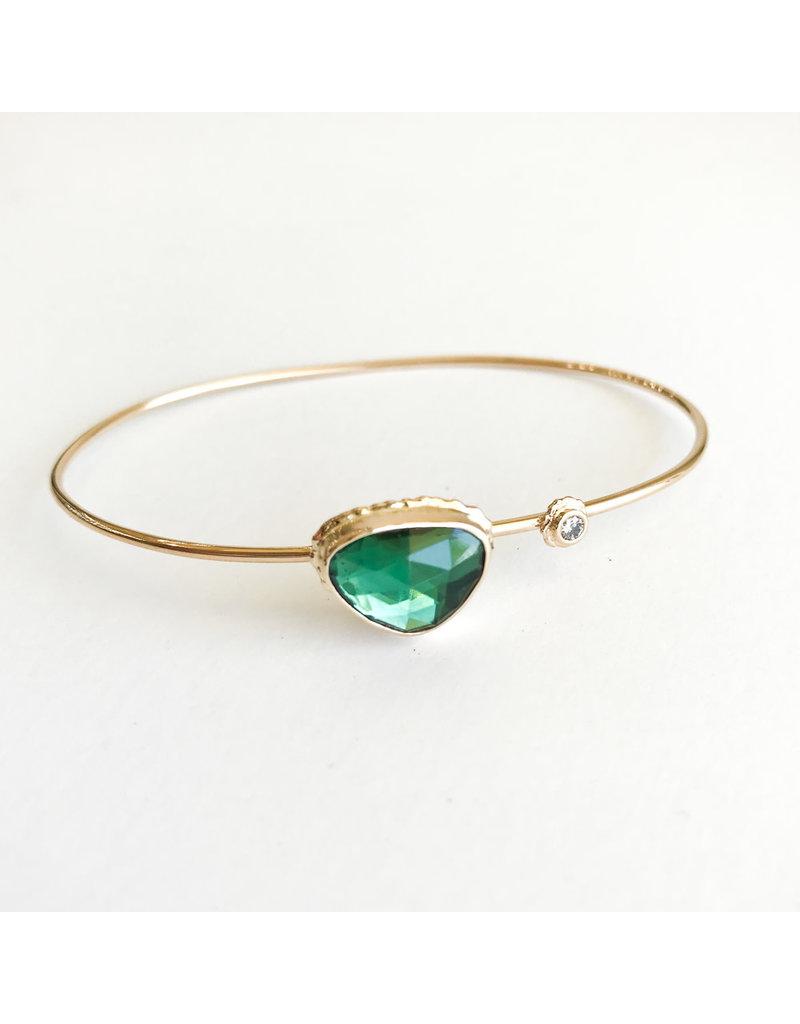 JAMIE JOSEPH Green Tourmaline w/ Diamond Bracelet