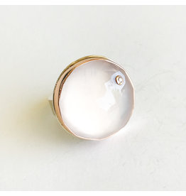 JAMIE JOSEPH Rose Quartz Ring