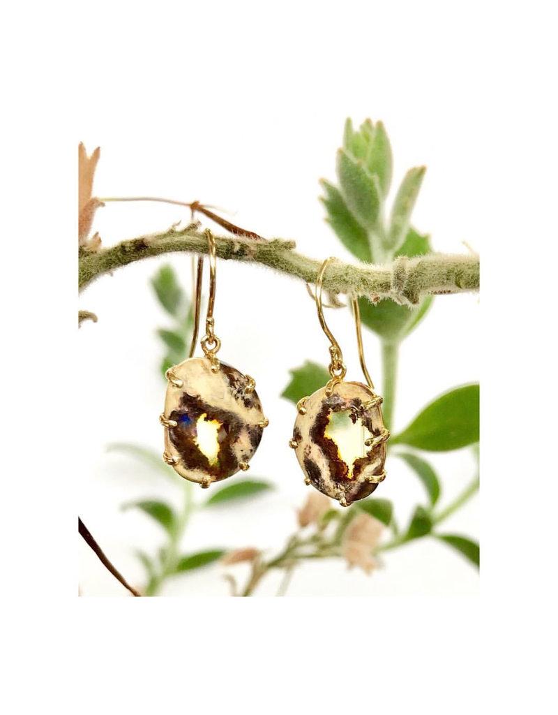 JAMIE JOSEPH Mexican Fire Opal Earrings