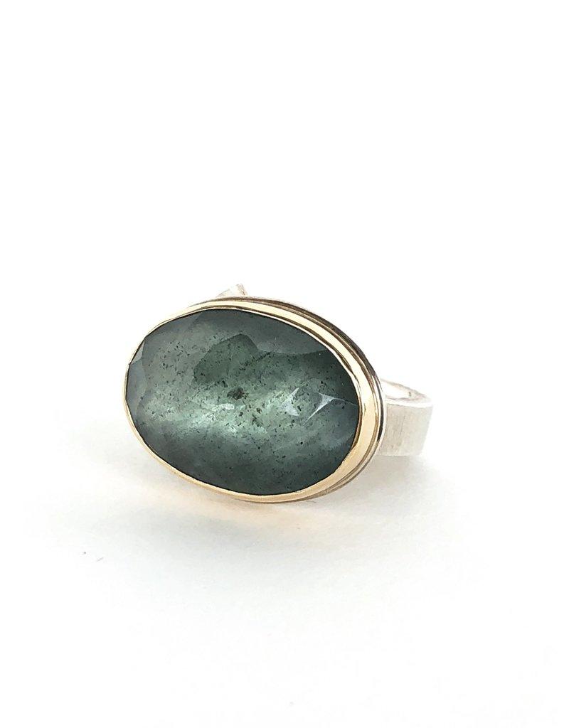 JAMIE JOSEPH Moss Aquamarine Ring