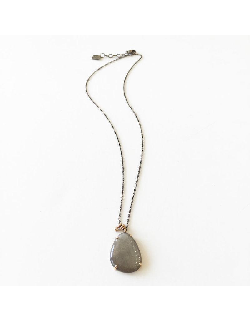 JAMIE JOSEPH Grey Moonstone Necklace