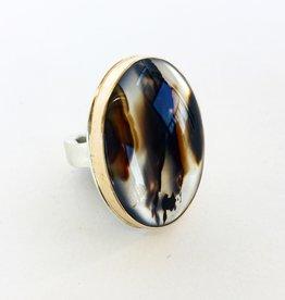 JAMIE JOSEPH Oval Montana Agate Ring