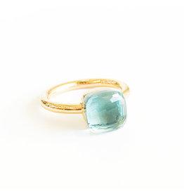 POMELLATO Petit Blue Topaz Nudo Ring