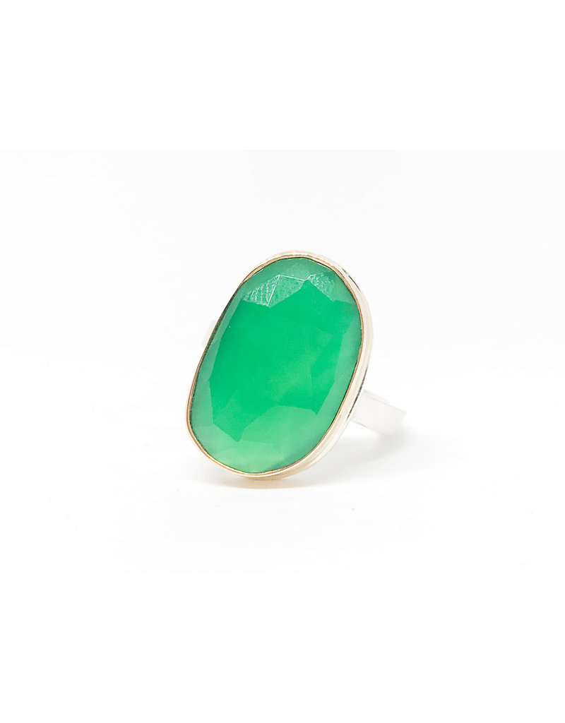 JAMIE JOSEPH Large Green Onyx Ring