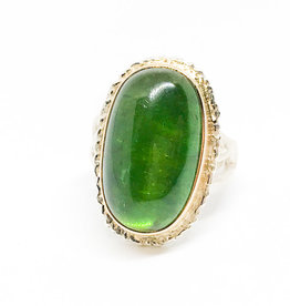 JAMIE JOSEPH Vertical Oval Green Tourmaline Ring