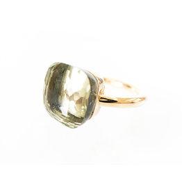 POMELLATO Large Nudo Prasiolite Ring