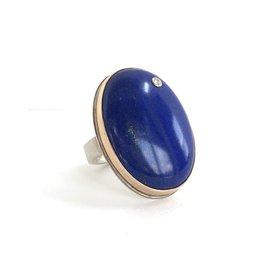 JAMIE JOSEPH Lapis Ring with Diamond