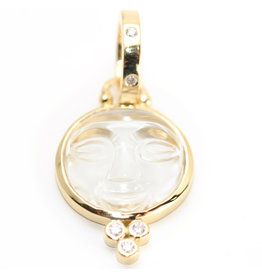 TEMPLE ST CLAIR Small Moon Face Pendant