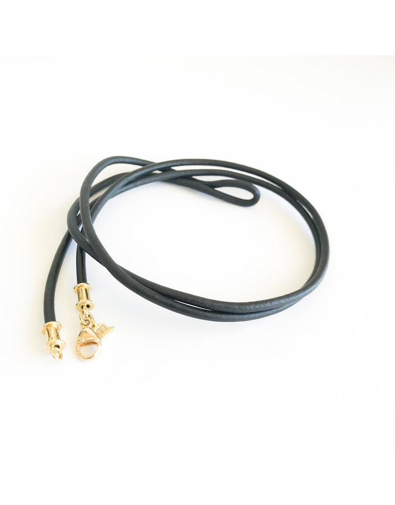 TEMPLE ST CLAIR Black Leather Cord