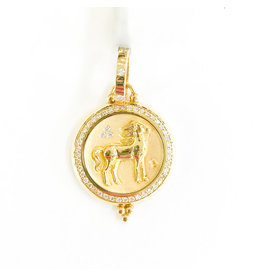TEMPLE ST CLAIR Large Horse with  Diamond Pendant