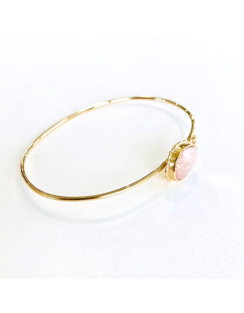 JAMIE JOSEPH Morganite w/ Diamond Bracelet