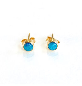 JAMIE JOSEPH Green Flash Opal Post Earrings