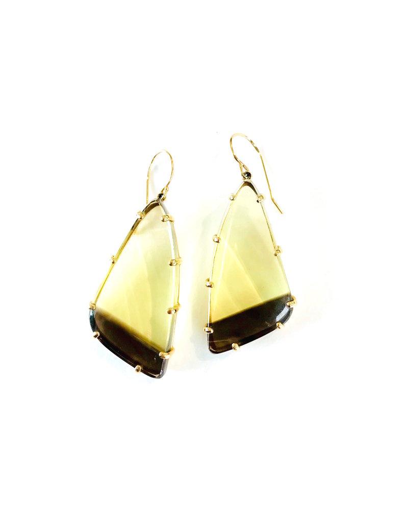 JAMIE JOSEPH Bi-Color Quartz Earrings