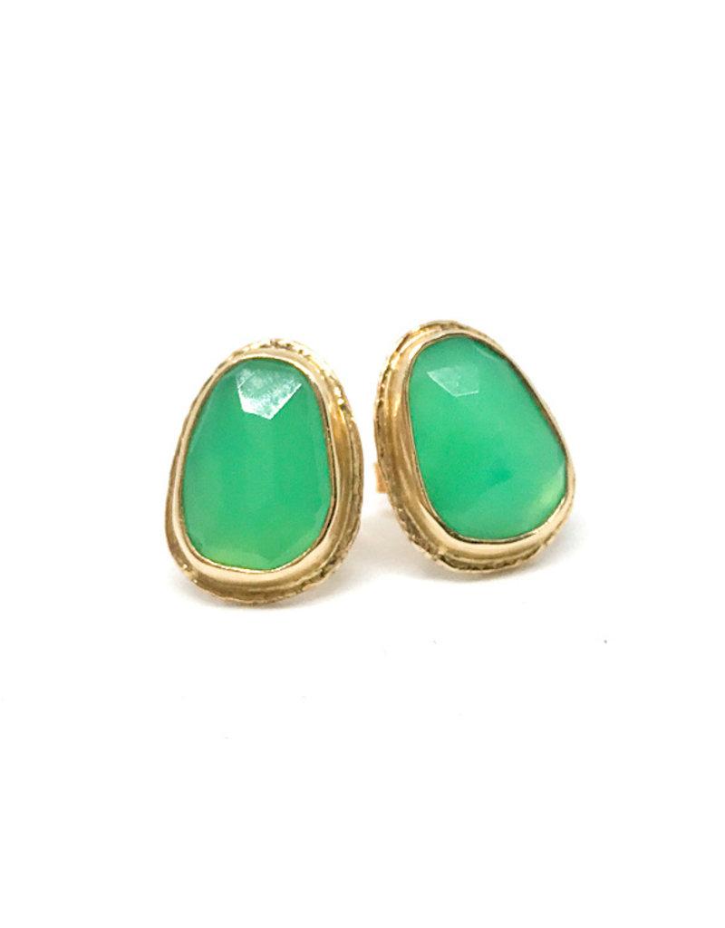 JAMIE JOSEPH Chrysoprase Post Earrings