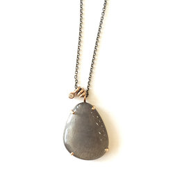 JAMIE JOSEPH Grey Moonstone Necklace