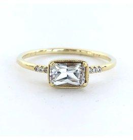ILA Karina White Sapphire & Diamond Ring