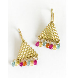 MALLARY MARKS Tibetan Pyramid Earrings