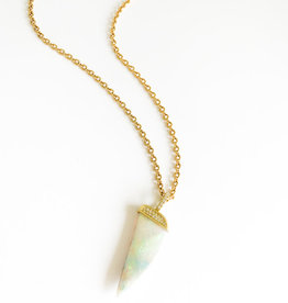 LAUREN K Opal and Diamond Horn Necklace