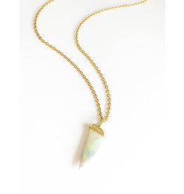 LAUREN K Opal and Diamond Horn Necklace