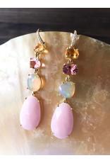 LAUREN K Citrine, Tourmaline & Opal Earrings