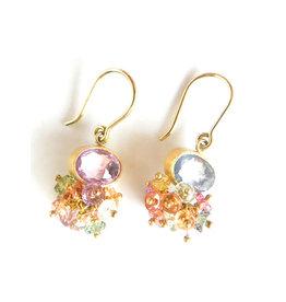 MALLARY MARKS Sprinkle Earrings Multi Sapphire