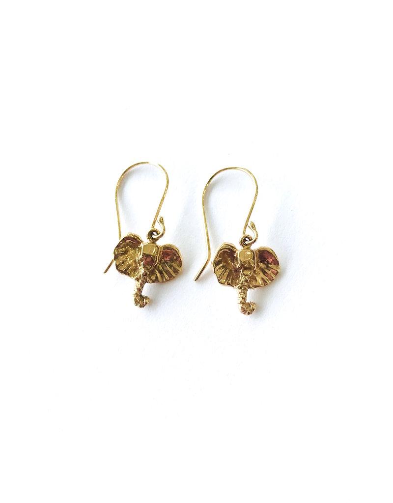 JAMIE JOSEPH Mini Elephant Earrings
