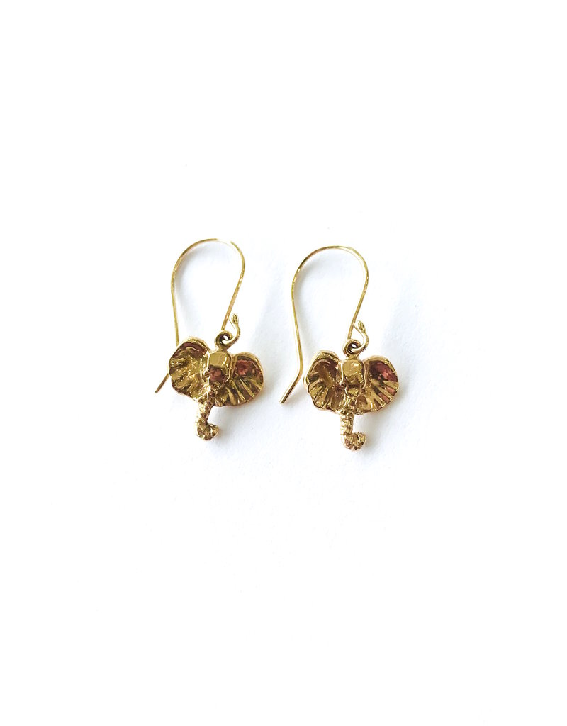 JAMIE JOSEPH Mini Elephant Earrings