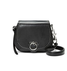 REBECCA MINKOFF Small Jean Saddle - Black