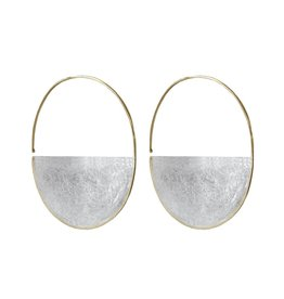 SHAESBY Half Moon Hoop Bright Silver