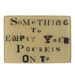 "JOHN DERIAN Empty Pockets 3.5 x 5"" Rectangle Tray"