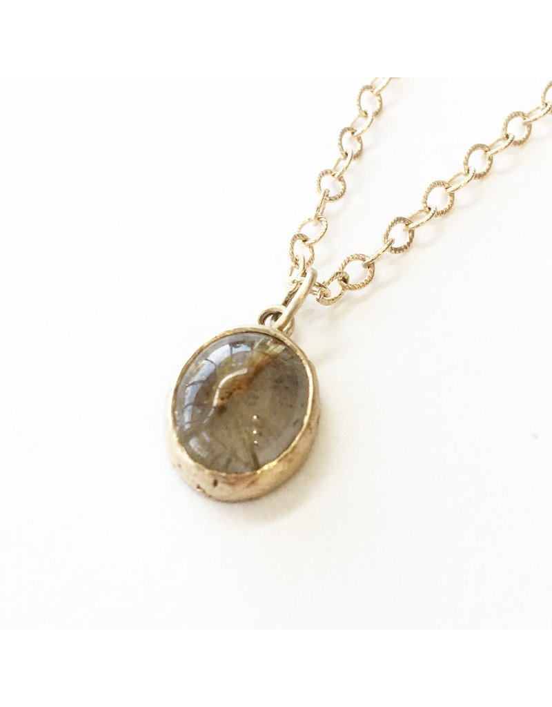 PAGE SARGISSON Rutilated Quartz Pendant