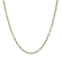 PAGE SARGISSON Gold Medallion Chain - 18""