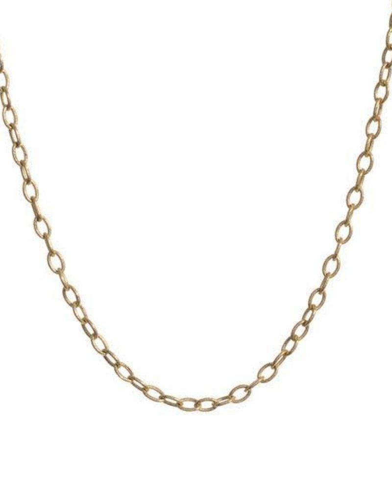 "PAGE SARGISSON Gold Medallion Chain - 18"""