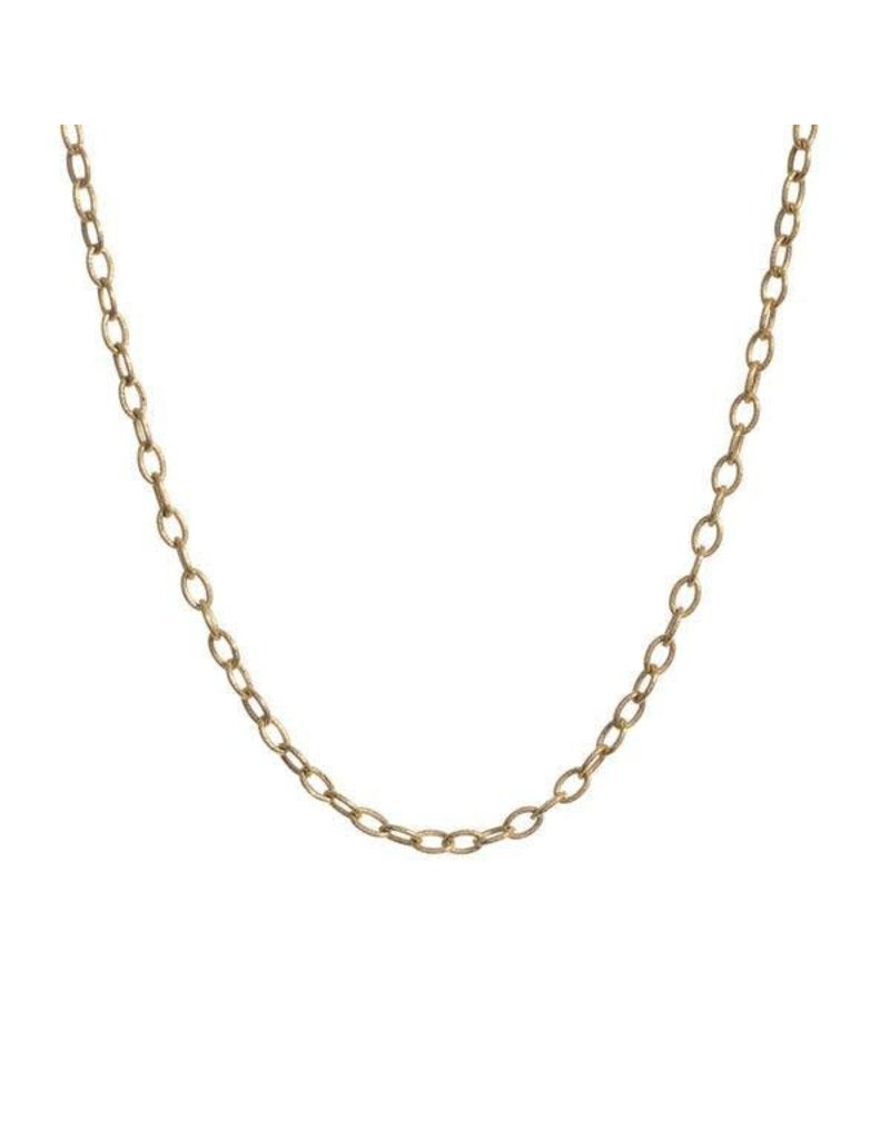 PAGE SARGISSON Gold Medallion Chain 18""