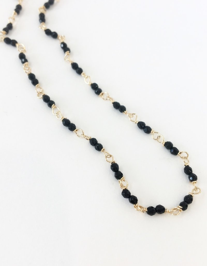 PAGE SARGISSON Onyx Wire Wrapped Necklace