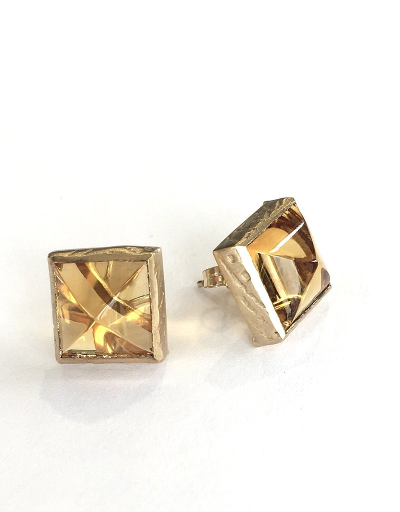 PAGE SARGISSON Citrine Square Earring