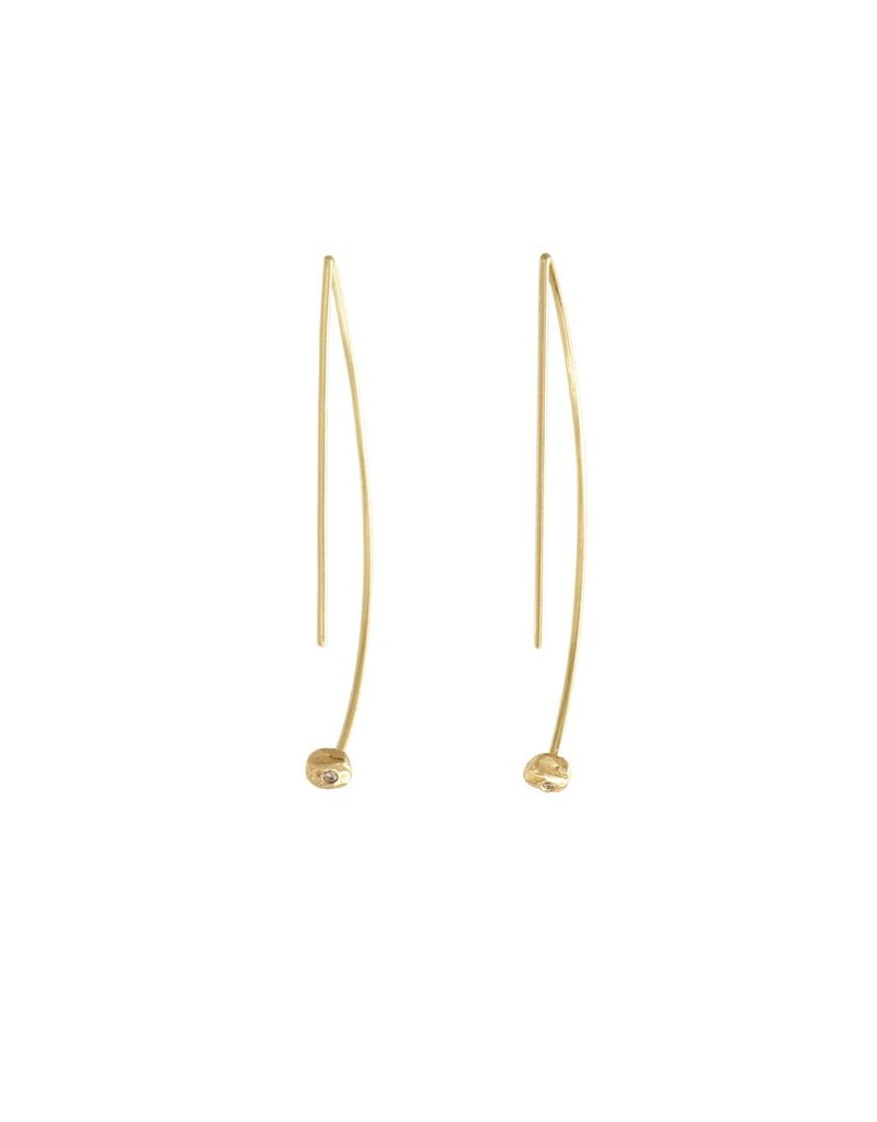 PAGE SARGISSON Geometric Hoop with Diamond Earring