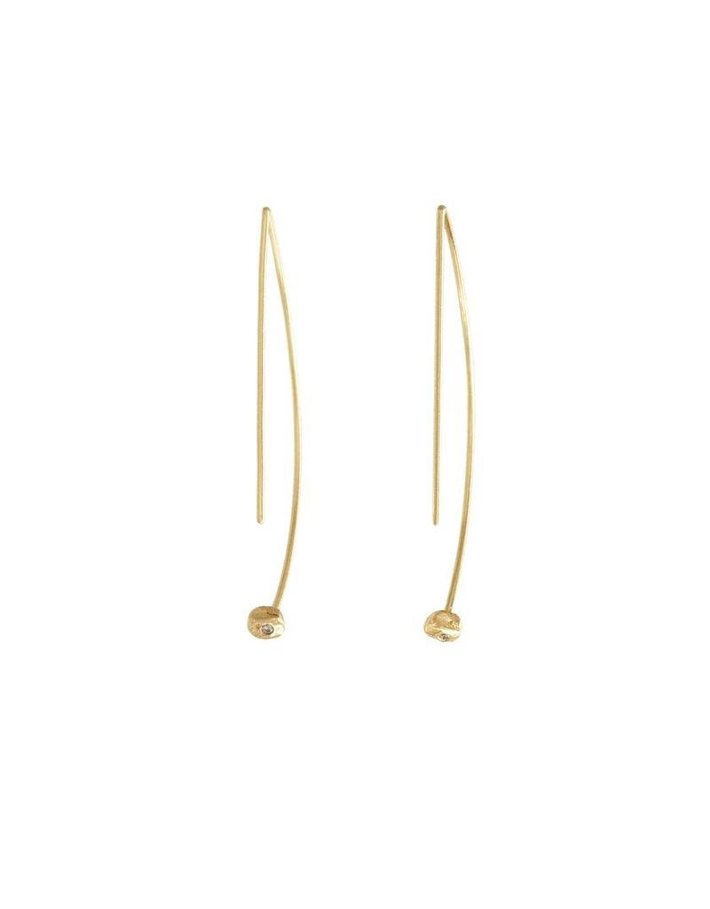 PAGE SARGISSON Geometric Hoop with Diamond Earring
