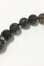 S CARTER Diamond Capped Tusk Smoky Quartz Necklace