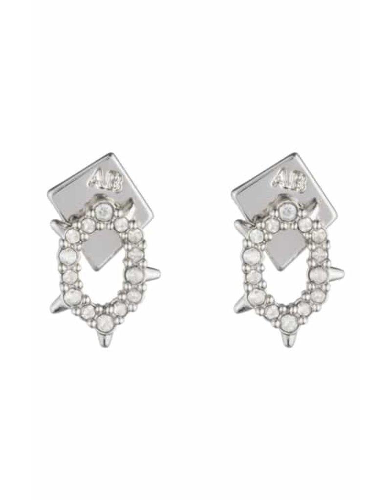 ALEXIS BITTAR Crystal Encrusted Spiked Stud Earrings