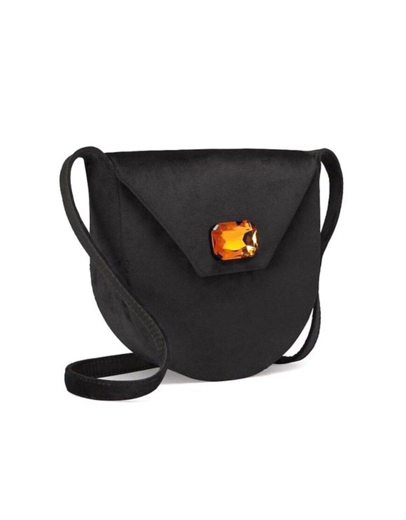 TORY BURCH Velvet Jewel Shoulder Bag