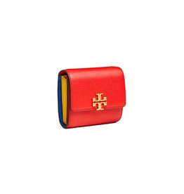 TORY BURCH Kira Foldable Medium Wallet Brilliant Red