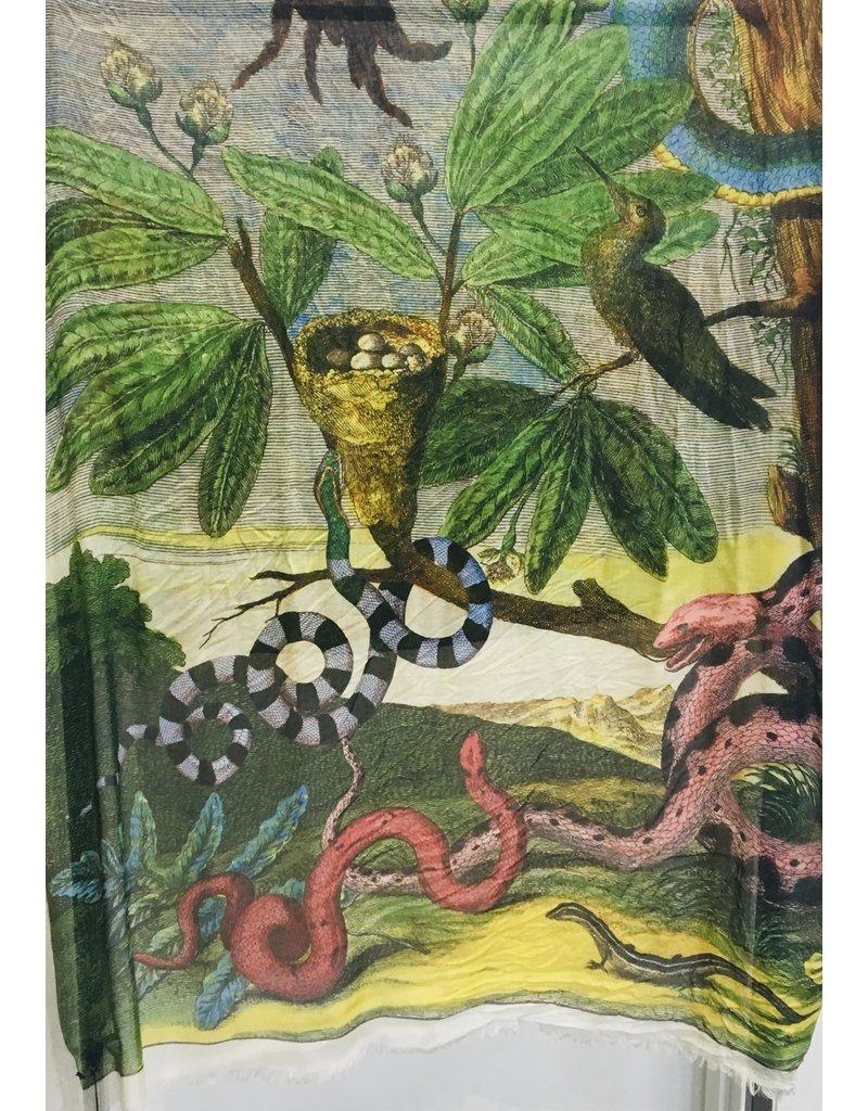 FRANCO FERRARI Amos Scarf Serpents Garden