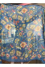 FRANCO FERRARI Rieti Stole Tuareg Floral Blue
