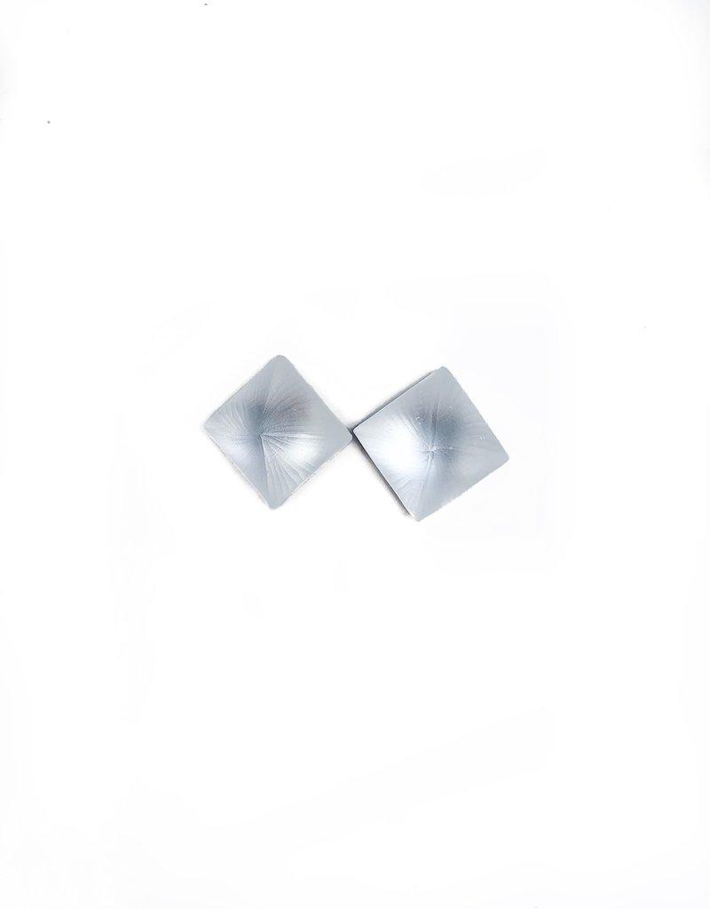 ALEXIS BITTAR Pyramid Post Earring - Silver