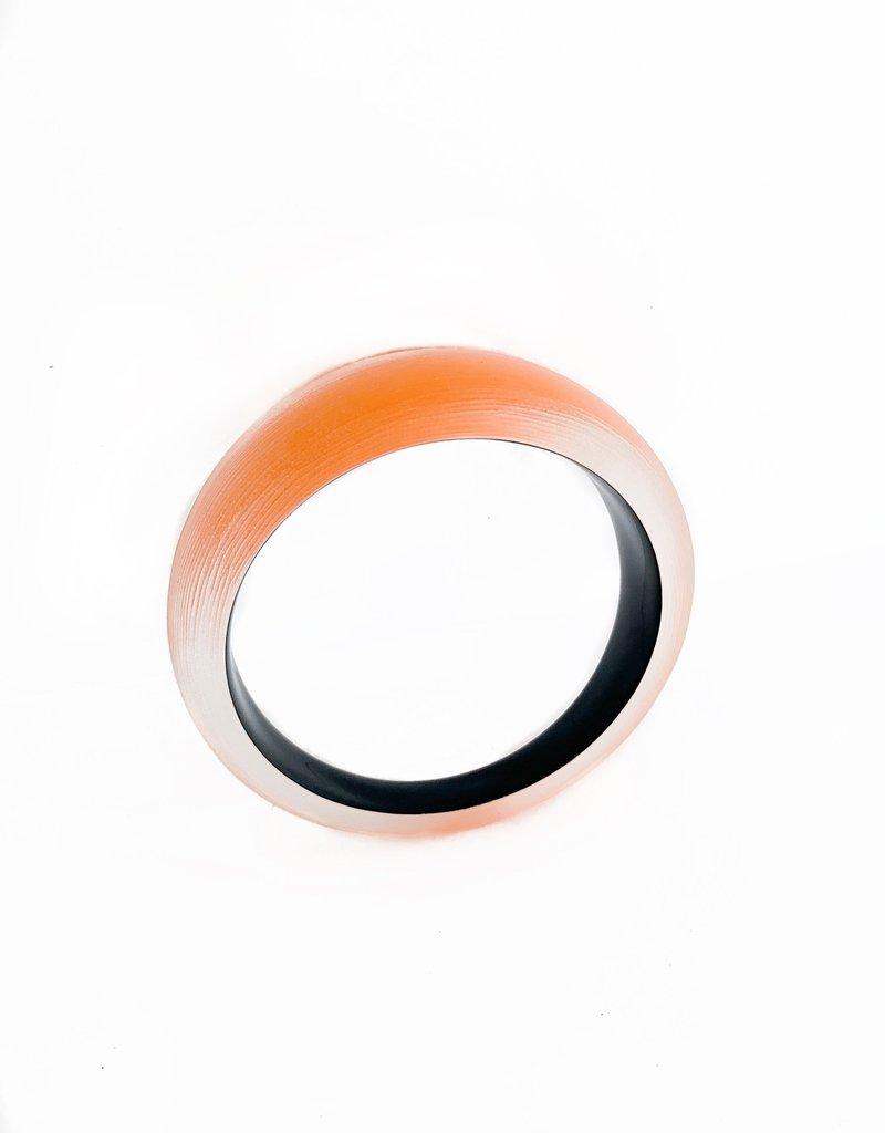 ALEXIS BITTAR Medium Tapered Bangle - Orange