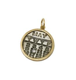 PAGE SARGISSON SS/Gold Diamond Calendar Charm May 10